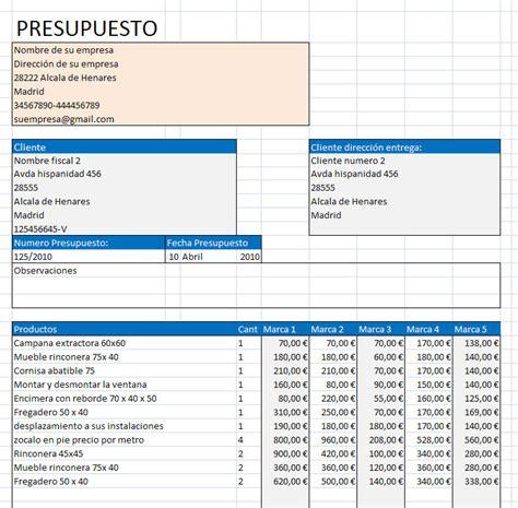 convertir en template hoja word presupuesto muebles excel opiniones precios y demo