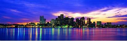 Panoramic Resolution Usa Cities Dual Monitor Panorama