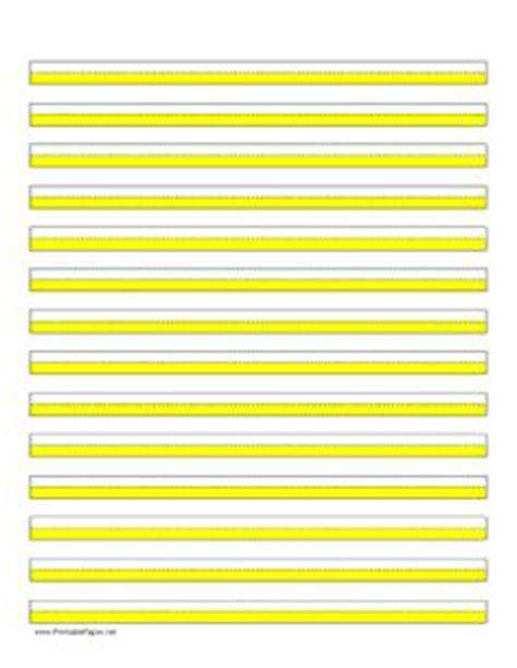 highlighter paper   lines  yellow highlights  landscape orientation