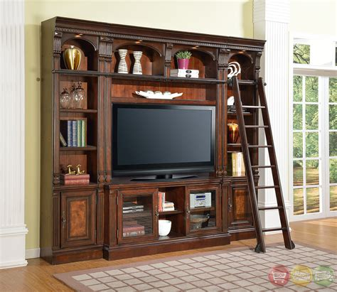 corsica library wall unit   tv stand space saver