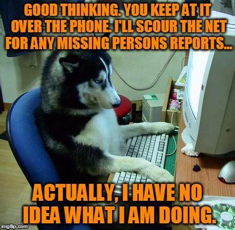 Dog On Phone Meme - computer dog imgflip