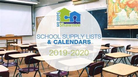 shawnee area schools calendar supply lists shawnee
