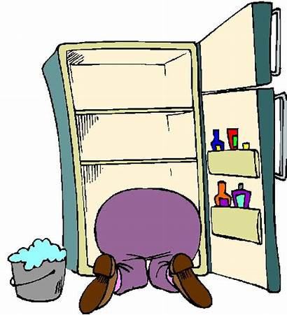 Clipart Dirty Fridge Refrigerator Cleaning Cliparts Clip
