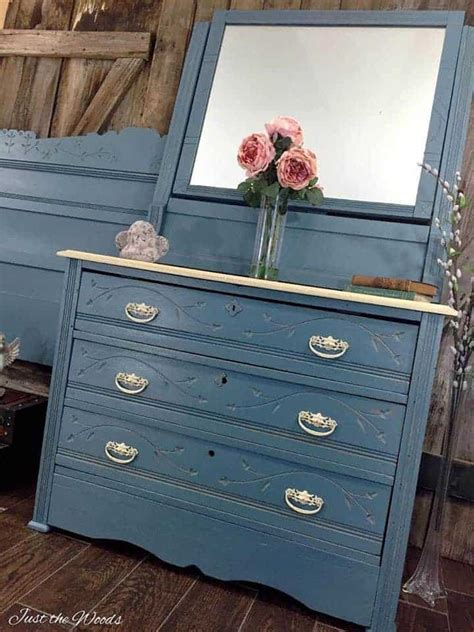 How To Style A Dresser by Cottage Style Painted Dresser Set Makeover Of Antique