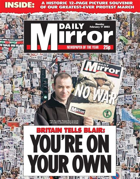 15 Daily Mirror front pages that captured strength of ...