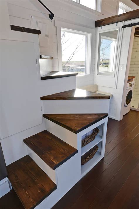custom mobile tiny house  large kitchen   lofts