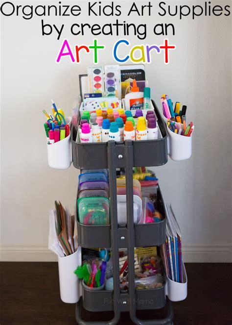 kids art cart  ikea raskog fun  mama