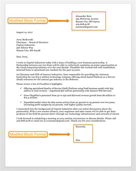sample business letter format   letter templates rg