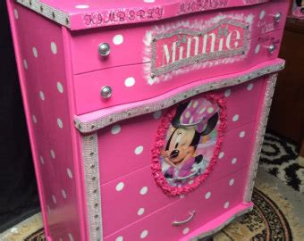 minnie mouse dresser minnie mouse d on eco friendly personalized name grils