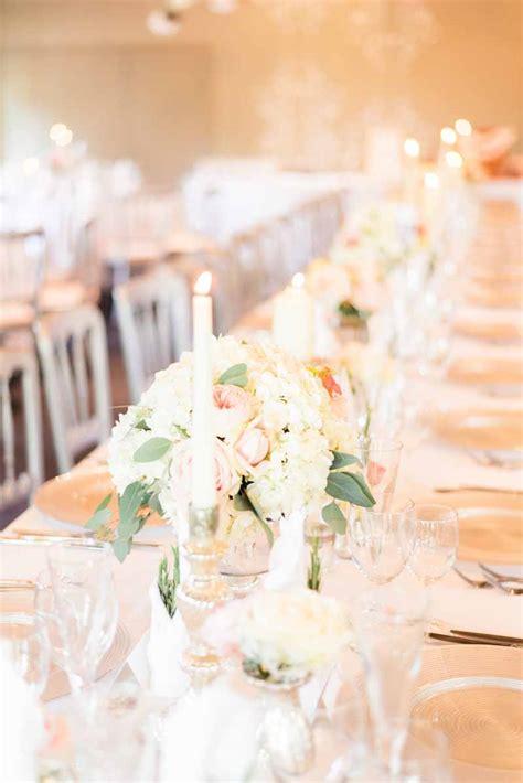 soft romantic elegant wedding flowers peach grey