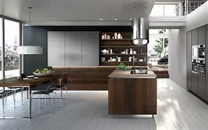 cuisine salon moderne dans la couleur en bronze photo With couleur pour cuisine moderne