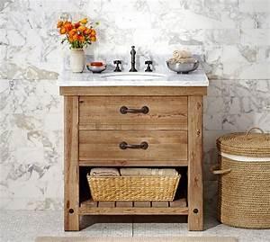 pottery barn bathroom vanity abbott single sink console With bathroom vanities pottery barn look