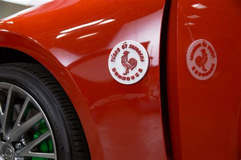 sriracha bottle outline lexus just made a sriracha car and no this isn 39 t an april
