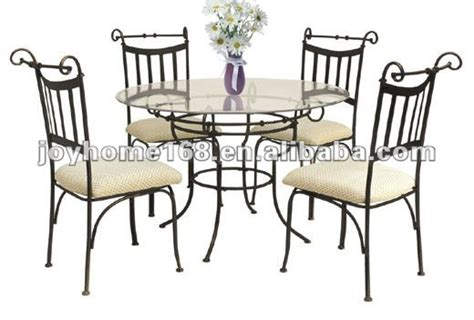 indoor wrought iron dining table and chair set shop for