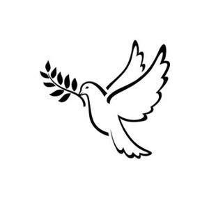 pochoir tatouage temporaire colombe oiseau  tatoo