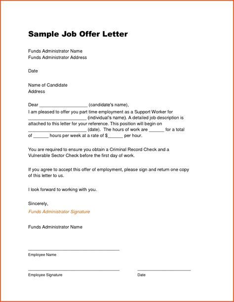 offer letter sle template resume builder