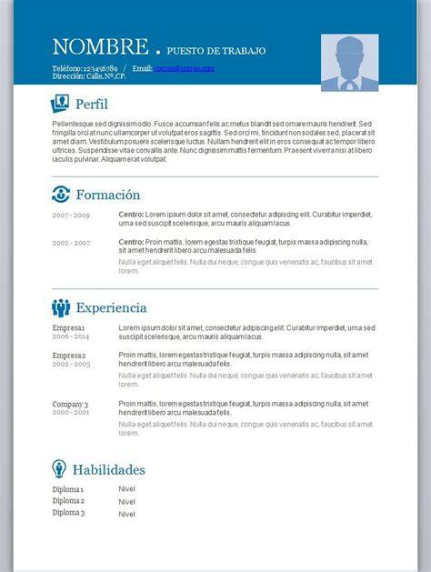 modelos de curriculum vitae en word  completar  cv