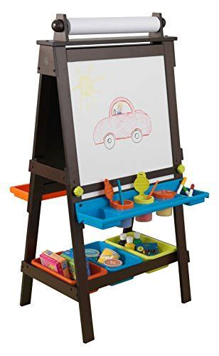 KidKraft 62043.0 Storage Easel   Espresso Novelty   Import