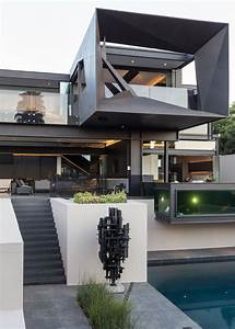 Kloof Road House  Breathtaking Sculptural House That Opens