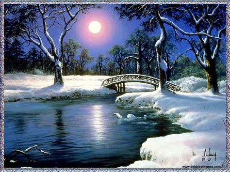 winter moon animation wallpaper urban art wallpaper