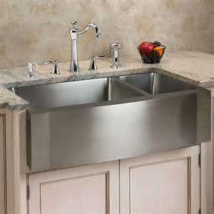Kitchen Faucet One 33 Quot Scranton Stainless Steel 70 30 Offset Well Wave Apron Farmhouse Sink