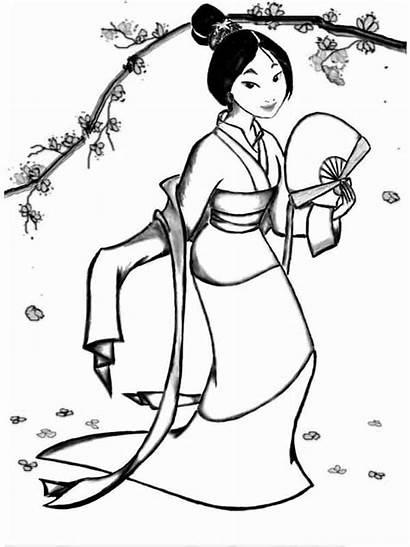 Mulan Imagenes Coloring Colorear Disney Printable Dibujos