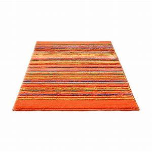 tapis de bain esprit home cool stripes orange 60x100 With tapis de bain orange
