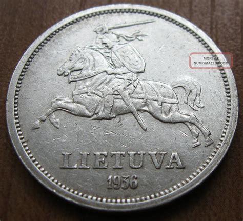 Lithuania Silver Coin 5 Litai 1936 Lietuva Jonas ...
