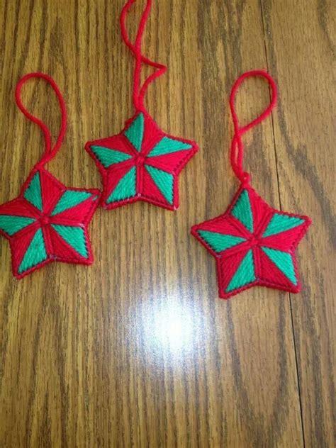 plastic canvas christmas ornaments plastic canvas
