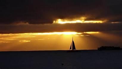 4k Sunset Sailboat Sailing Wallpapers Ultra Sea