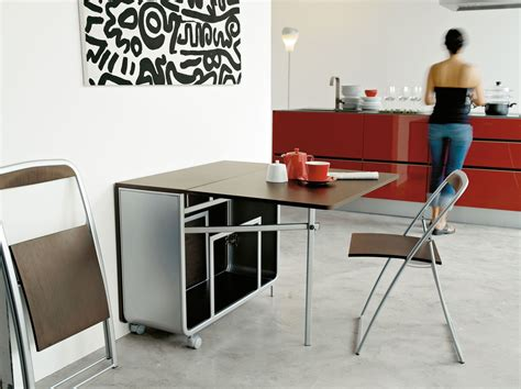 tables de cuisines modern portable folding dining table with wheels and