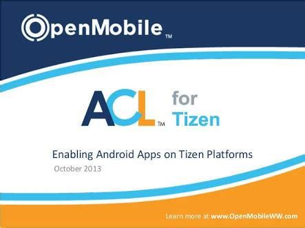 developers released new update for acl for tizen tizen help