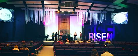 strips falling church stage design ideas
