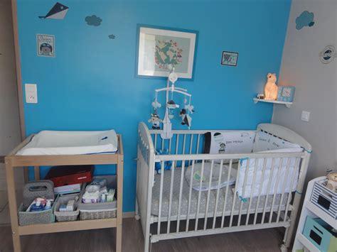 chambre peinture bleu deco chambre garcon bleu et gris