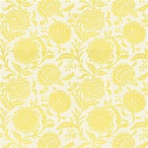 Papier Peint Fleuri : papier peint jaune fleurs rivera ~ Premium-room.com Idées de Décoration