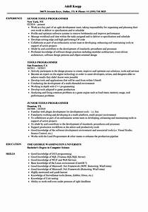 Tools Programmer Resume Samples