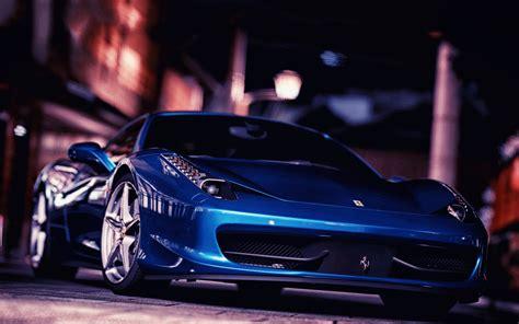 car ferrari ferrari  italia blue cars wallpapers hd