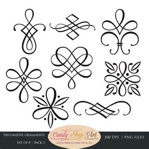 wedding ornaments instant calligraphy ornaments graphic ornaments