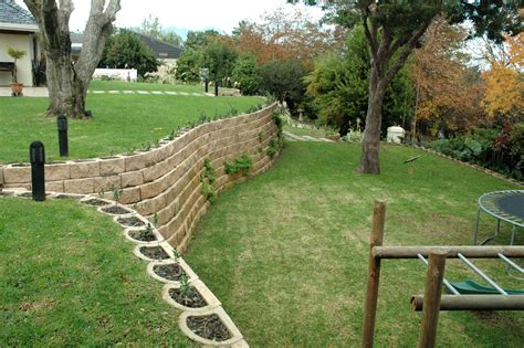 Garden Retaining Wall by A Steep Garden Transformed With Retaining Wall Blocks