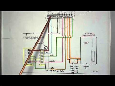 aprilaire model  basic wiring youtube