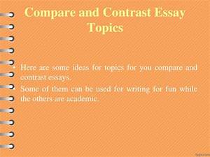 good titles for compare and contrast essays