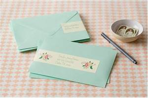 create custom address labels for your wedding stationery With custom mailing labels for wedding invitations