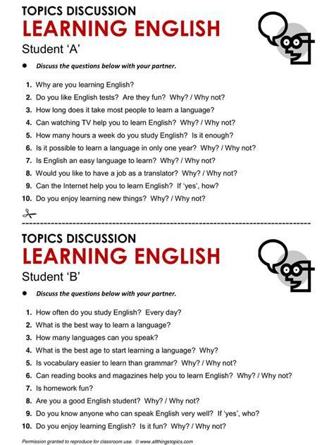 conversation topics  adults learning english