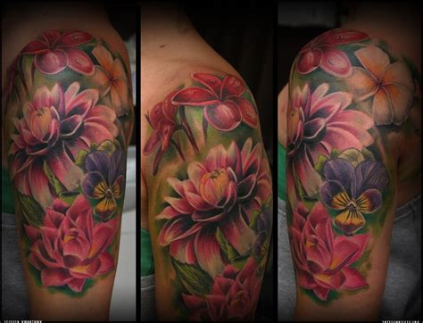 photo realistic flower tattoos google search tattoos