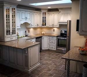 Shabby, Chic, Distressed, Kitchen, Brick, Nj, By, Design, Line, Kitchens