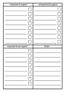 Things to Do List Template Printable