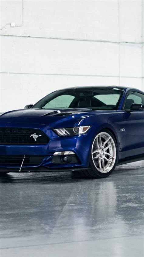 Blue Mustang Wallpaper Iphone by Blue Ford Mustang Car Wallpaper