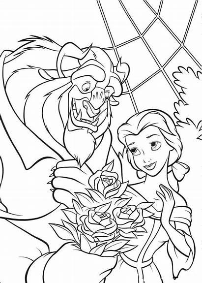 Beast Beauty Coloring Pages Printable
