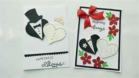 2 Simple And Cute Wedding Anniversary Card Ideashandmade