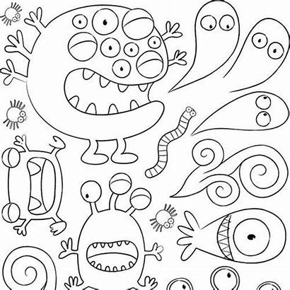 Coloring Monster Pages Doodle Each Souls Inner